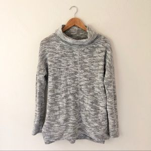 Sanctuary Grey White Knit Cowl Sweater
